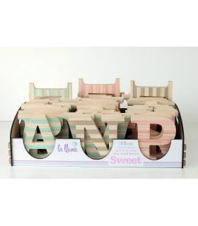 Letras de madera  de pino sweet