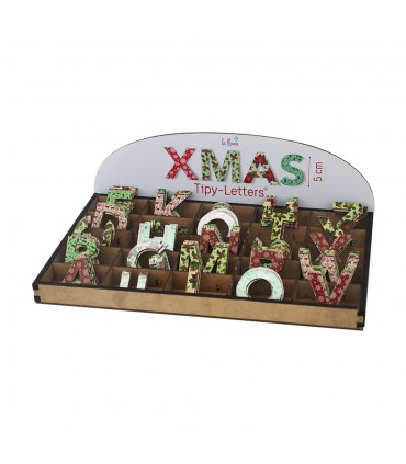 Letras de Navidad pequeñas con adhesivo