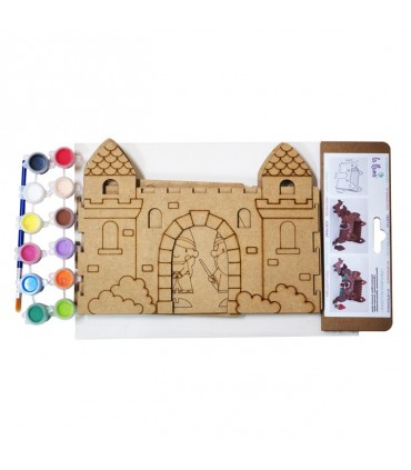CONSTRUCTION KIT TO PAINT KNIGHT CASTLE