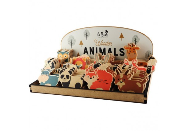 GAME PIECES WOODEN ANIMALS