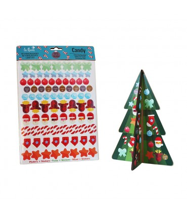 Kit Fir Tree with Stickers CANDY
