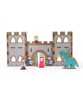 Wooden handicraft Kit medieval Castle Stickers