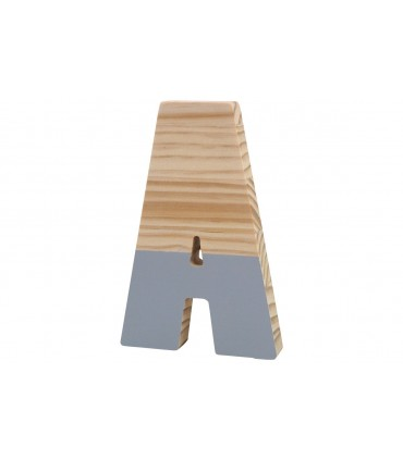 Wooden lacquered letters GREY