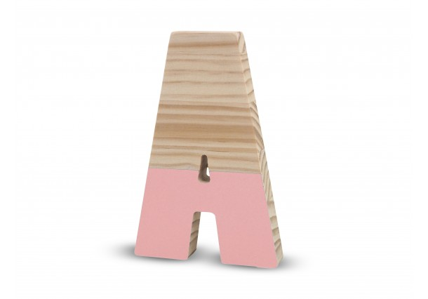 Lacquered letters Pink