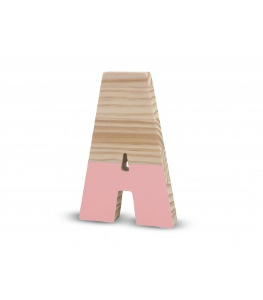 Wooden lacquered letters PINK