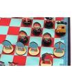 Chess set for children red
