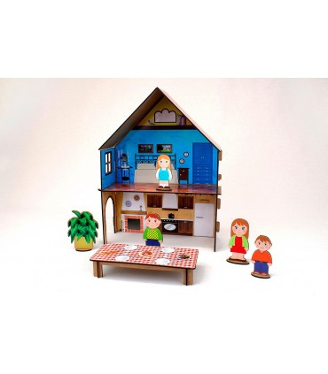 Construction Game Family House with stickers