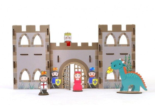 Wooden handicraft Kit medieval Castle Stickers