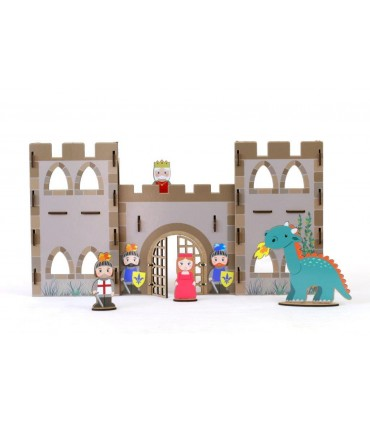 Construction Game Castle with Stickers