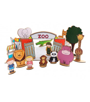 Construction Game Zoo with Stickers