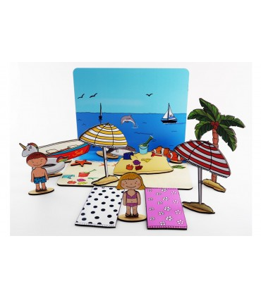 Construction Game Beach with Stickers