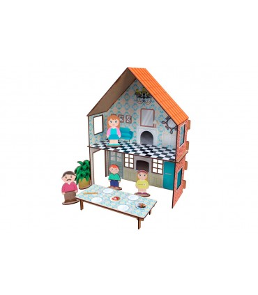 Construction Game Retro House with stickers