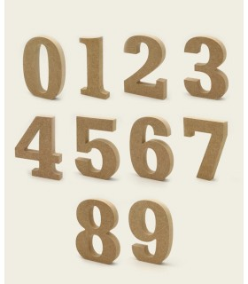 Wooden numbers 12 cm