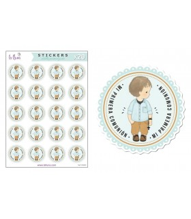 "Adhesives Labels Communion ""Boy"""