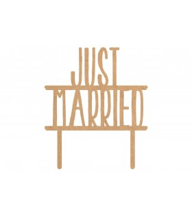 """Toppers pour gâteaux  """"Just Married"""""""