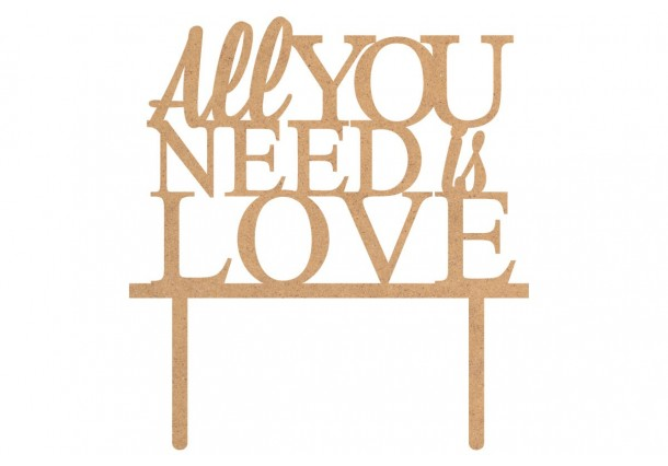 """Toppers pour gâteaux  """"All you need is Love"""""""