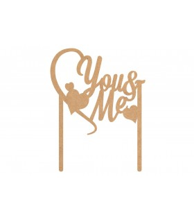 "Toppers Cake ""You & Me"""