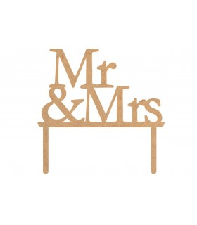 "Toppers per torte ""Mr & Mrs"""