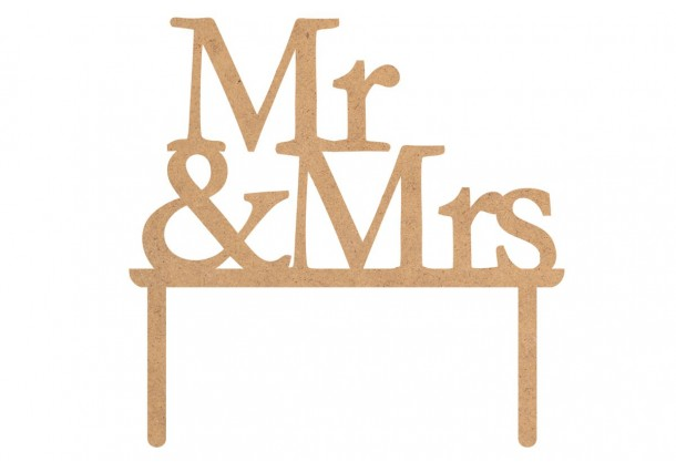 """Toppers Cake """"Mr & Mrs"""""""