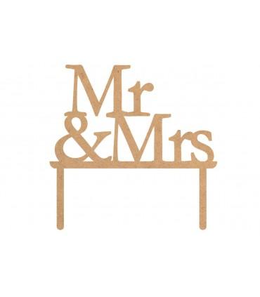 "Toppers per torte ""Mr & Mrs"""