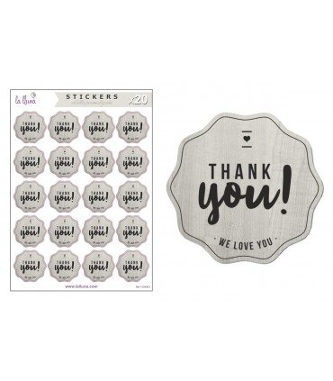 "Adhesives Labels Wedding ""Thank You"""
