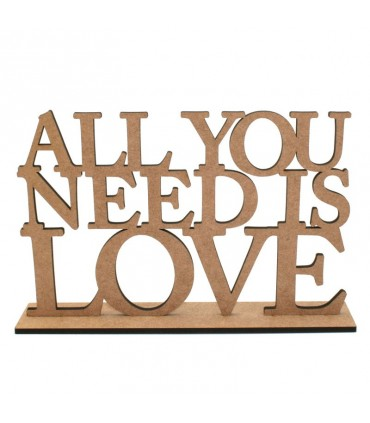 "Decorative phrases ""All you Need is Love"""