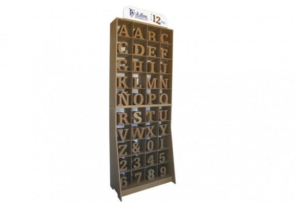 Mueble Letras y Números 12 cm