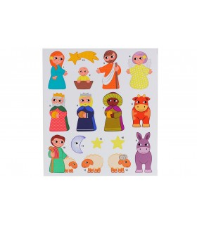 Pessebre magnètic amb stickers LOVELY