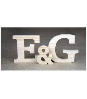 Letras madera pino 10 cm