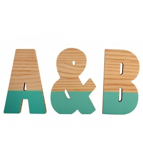 Semilacquered pine letters Mint