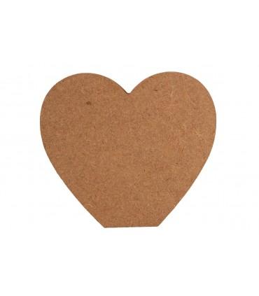 Forme en bois 12 cm Coeur