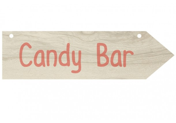 Flecha con stickers Candy Bar