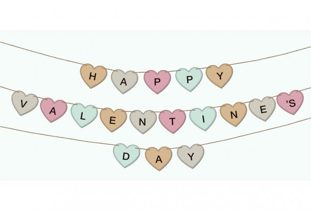 Valentine's Pennants and Garlands