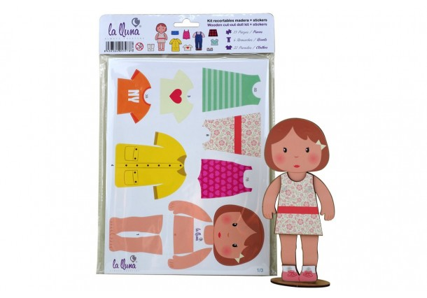Wooden cut-out doll