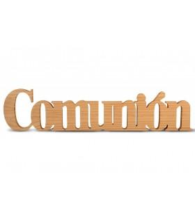 Palabras Decorativas en Pino Comunión
